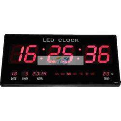 LED fali óra naptár hőmérő 4622