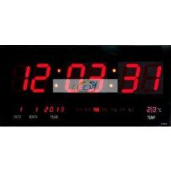 LED fali óra naptár hőmérő 3615
