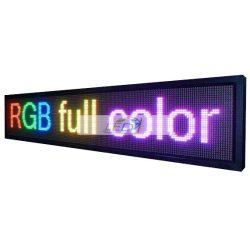 FÉNYÚJSÁG SZÍNES 136cm x 40cm RGB LED REKLÁMTÁBLA KÜLTÉRI KIVITEL LEDbox
