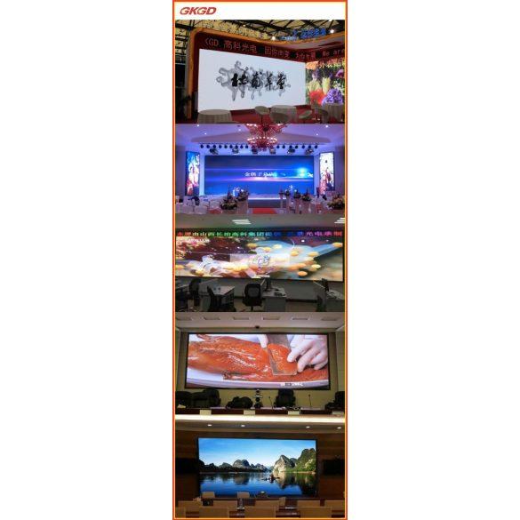 LED VIDEÓFAL SZÍNES 360cm x 72cm P8 SMD LED KÜLTÉRI KIVITEL LEDbox