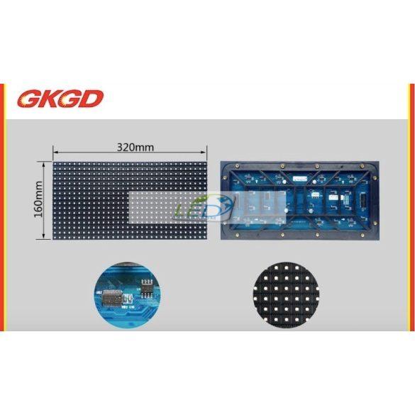 LED VIDEÓFAL SZÍNES 520cm x 104cm P8 SMD LED KÜLTÉRI KIVITEL LEDbox