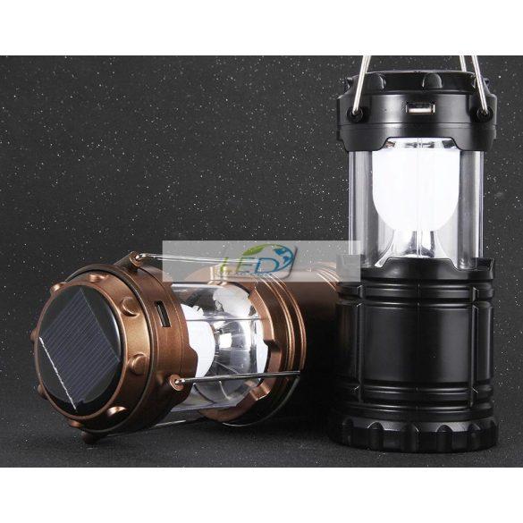 Hordozható széthúzható Led lámpa kemping lámpa Beépített Akkumulátoros Napelemes 220V