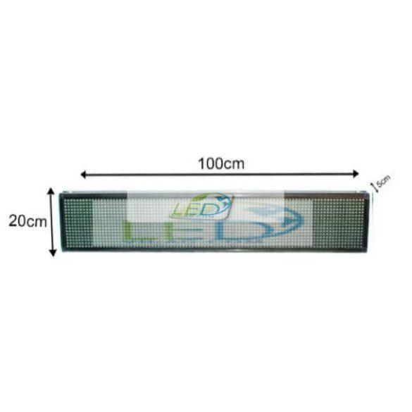 FÉNYÚJSÁG EGYSZÍNŰ FEHÉR 100cm x 20cm  LED REKLÁMTÁBLA BELTÉRI KIVITEL LEDbox