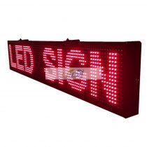 FÉNYÚJSÁG PIROS 100cm x 20cm EGYSZÍNŰ LED REKLÁMTÁBLA KÜLTÉRI KIVITEL LEDbox WIFI vezérléssel