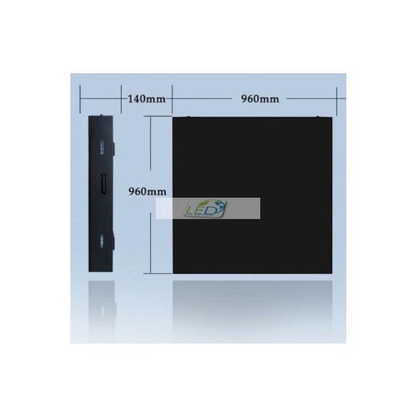 LED VIDEÓFAL SZÍNES 104cm x 104cm P5 SMD LED KÜLTÉRI KIVITEL LEDbox