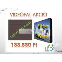 LED VIDEÓFAL SZÍNES 104cm x 104cm P8 SMD LED KÜLTÉRI KIVITEL LEDbox