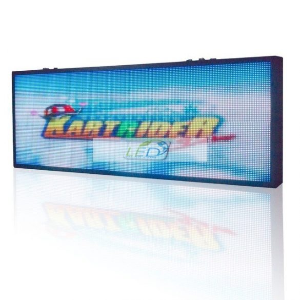 LED VIDEÓFAL SZÍNES 294cm x 54cm  P4 SMD LED KÜLTÉRI KIVITEL LEDbox