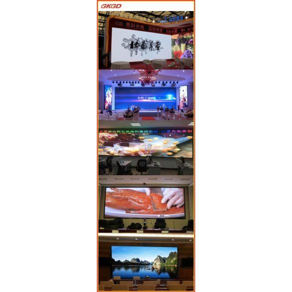 LED VIDEÓFAL SZÍNES 360cm x 40cm P8 SMD LED KÜLTÉRI KIVITEL LEDbox