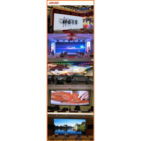LED VIDEÓFAL SZÍNES 360cm x 88cm P2 SMD LED BELTÉRI KIVITEL LEDbox